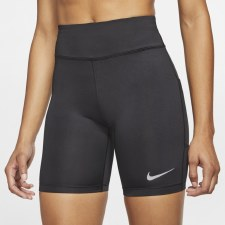 "Nike Womens Fast 7"" Short (Black) XS"