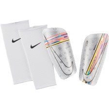 Nike CR7 Mercurial Lite Shinguards (White Multi) Small