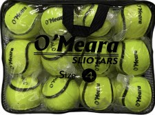 O'Meara All Weather Wall Ball Sliotar Size 4 Value Pack 12 (Yellow)