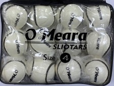 O'Meara All Weather Wall Ball  Sliotar Size 4 Value Pack 12 (White)
