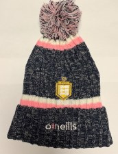 O'Neill Clare Ladies Nevis Bobble Hat (Melange Navy Pink White) Adults