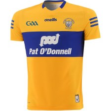O'Neills Clare Home Jersey Player Fit 2021/21 (Amber Royal) Small