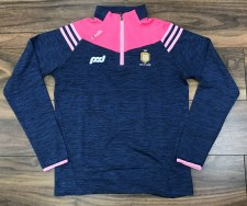 O'Neills Clare GAA Colorado Ladies Brushed Half Zip (Melange Navy pink) 10-11