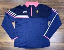 O'Neills Clare Ladies Nevis Half Zip (Melange Navy Navy Pink White) 5-6