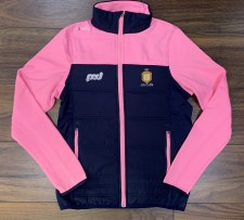 O'Neills Clare Ladies Nevis Light Weight Padded  Jacket (Navy Pink) 5-6