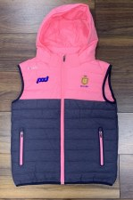 O'Neills Clare Ladies Nevis Hooded Gilet (Marl Navy Pink) 5-6