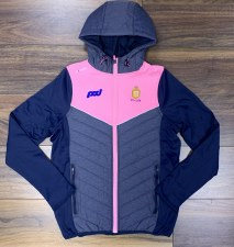 O'Neills Clare Ladies Nevis Light Weight Hooded  Jacket (Marl Navy Pink) 5-6