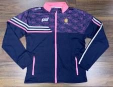 O'Neills Clare Ladies Nevis Full Zip Brushed Jacket (Printed Navy Pink) 5-6