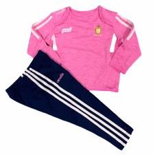 O'Neills Clare Raven Infant Suit (Melange Pink Carnation Navy) 12-18M