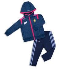 O'Neills Clare Ladies Solar Infant Tracksuit (Navy Melange Pink Blue) 6-12 Months