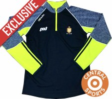 New & Exclusive O'Neills Clare Dillon 33 K2 1/2 Zip Mid Layer Top (Navy/Flo Yellow) SMALL