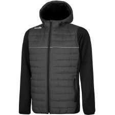 O'Neills Harrison Padded Hooded Jacket (Marl Grey Black) Medium