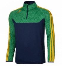 O'Neills Kasey 3 Stripe Brushed Half Zip (Navy Melange Green Amber) 2XL