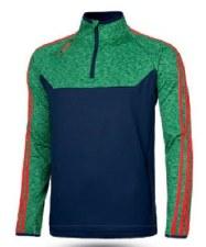 O'Neills Kasey 3 Stripe Brushed Half Zip (Navy Melange Green Red) 5-6