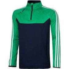 O'Neills Kasey 3 Stripe Brushed Half Zip (Navy Melange Green White) 7-8