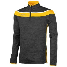O Neills Slaney 3 Stripe Half Zip (Melange Black  Amber White) 5-6