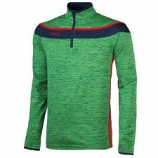 O'Neills Slaney 3 Stripe Half Zip (Melange Green Navy Red) 5-6