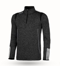 O'Neills Solar 3 Stripe Brushed Half Zip (Melange Black White) 7-8