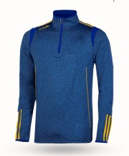O'Neills Solar 3 Stripe Brushed Half Zip (Melange Navy Royal Amber) Age 5-6
