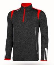 O'Neills Solar 3 Stripe Brushed Half Zip (Melange Black Red) XL