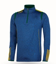 O'Neills Solar 3 Stripe Brushed Half Zip (Melange Navy Green Amber) 5-6