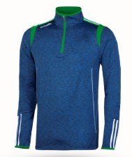 O'Neills Solar 3 Stripe Brushed Half Zip (Melange Navy Green White) Medium
