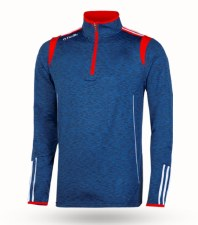 O'Neills Solar 3 Stripe Brushed  Half Zip (Melange Navy Red White) 5-6