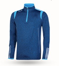 O'Neills Solar 3 Stripe Brushed  Half Zip (Melange Navy Sky White) 5-6