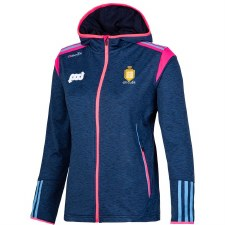 O'Neills Clare Ladies Solar Brushed Full Zip Hoody (Navy Melange Pink Blue) 10-11
