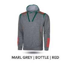 O'Neills 3 Stripe Solar Hoody (Marl Grey Bottle Red) 7-8