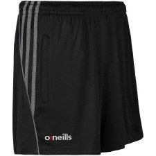 O Neills Solar Poly Shorts (Black Marl Black Stripes) 7-8