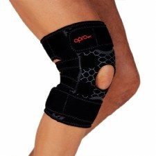 Opro Tec Knee Support Open Patella (Black) One Size