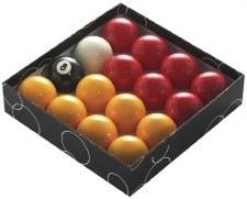 "PowerGlide Pool Balls (2"" -  51mm) Reds & Yellows"