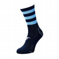 Precision Pro Hooped GAA Mid Socks (Navy Sky) Junior Uk 12-2