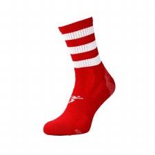 Precision Pro Hooped GAA Mid Socks (Red White) Boys Uk 3-6