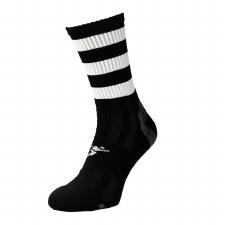 Precision Pro Hooped GAA Mid Socks (Black White) Junior Uk 12-2