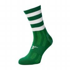 Precision Pro Hooped GAA Mid Socks (Green White) Junior Uk 12-2