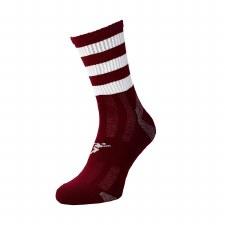 Precision Pro Hooped GAA Mid Socks (Maroon White) Junior Uk 12-2