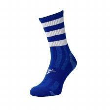 Precision Pro Hooped GAA Mid Socks (Royal White) Junior Uk 12-2
