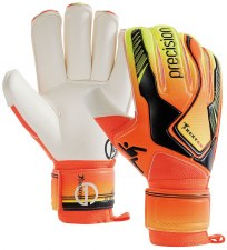 Precision Junior Heat On Goalkeeper Gloves (Orange Black) 5