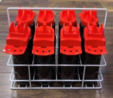 Precision Hygiene 8 Bottles + Carrier (Black Red)