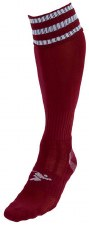 Precision Pro Football Sock (Maroon White) Uk Size Boys 3-6