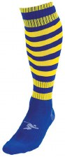 PT Pro Football Sock Hooped (royal Yellow) Uk Size Boys 3-6