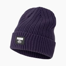 Puma Ribbed Classic Beanie (Navy) One Size Adults