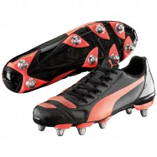 Puma evoPOWER 4.2 H8 Rugby Boots (Black Red) 9