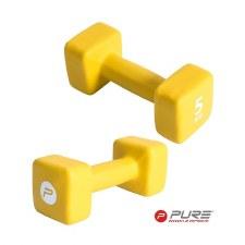 Pure2improve Neoprene Dumbbell (Yellow) Single 5kg