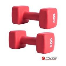Pure2improve Neoprene Dumbbell (Red) Single 8kg