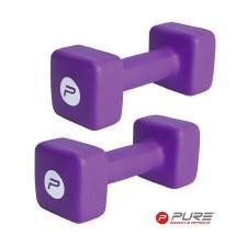 Pure2improve Neoprene Dumbbell (Purple) Single 10kg