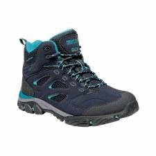 Regatta Holcombe IEP Mid  Womens  Walking Boot (Navy Azure Blue) 4