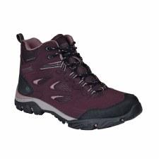 Regatta Holcombe IEP Mid  Womens  Walking Boot (Burgundy Pink) 4